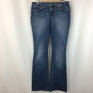 Blue 2 distressed Flare Jeans 31 Very Long Inseam